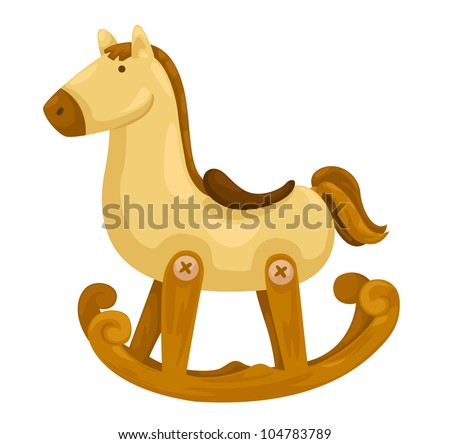 rocking horse vector illustration on a white background - stock vector