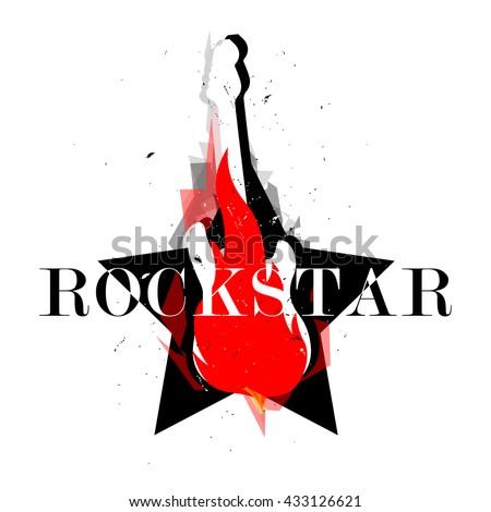 rockstar logotype rockstar logo rockstar badge rockstar sign rockstar ... Rock Band Silhouette