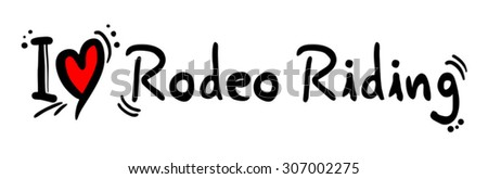Rodeo Riding love - stock vector
