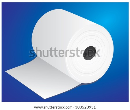 roll of paper for calculator vector design