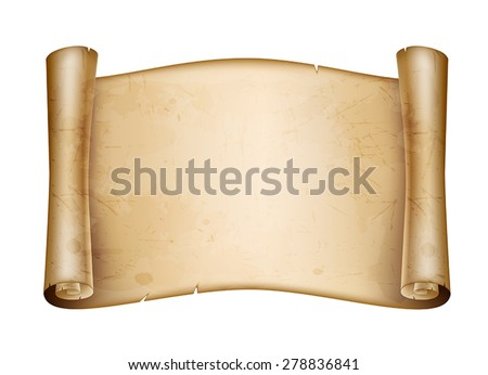 roll old paper - stock vector