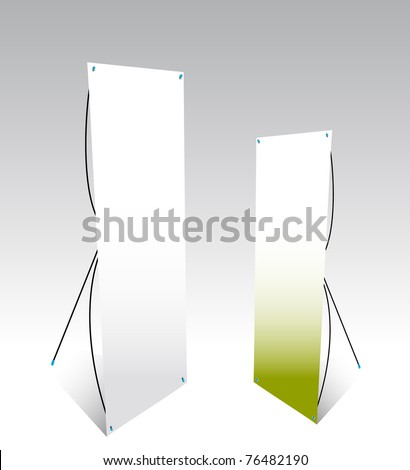 roll over of two displays for products - stock vector