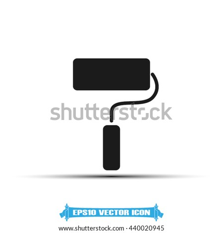 roll paint icon vector illustration EPS 10 - stock vector