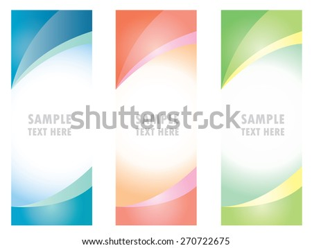 roll up banner design - stock vector