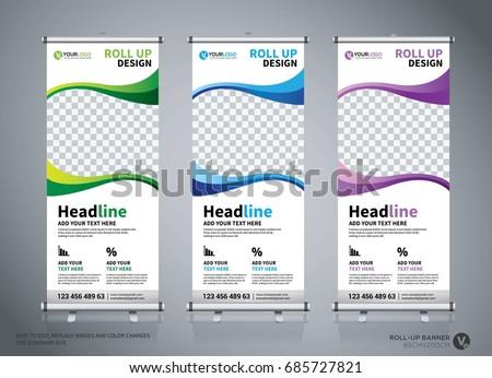 roll banner design stock vector 548510065 shutterstock. Black Bedroom Furniture Sets. Home Design Ideas