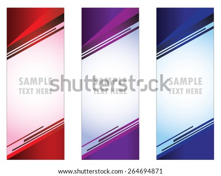 roll up banner, info, placard, advertising, - stock vector