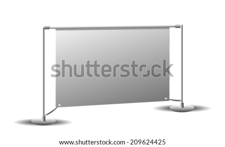 Roll Up Banner Isolated on white - stock vector