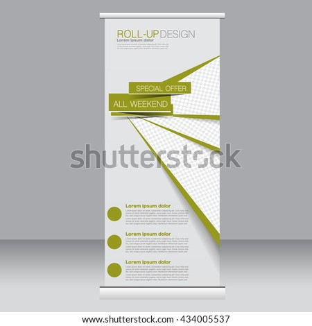 Roll Banner Stand Template Abstract Background Stock Vector ...