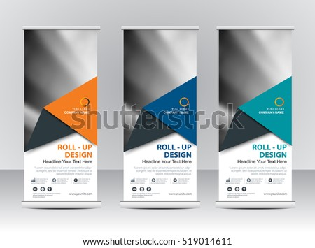 Pop up banner stock vectors images vector art shutterstock roll up banner stand template design pronofoot35fo Choice Image