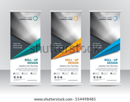 Roll Banner Stand Template Design Stock Vector 519014623 ...