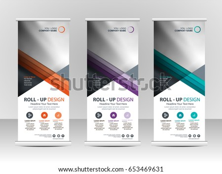 Roll Banner Stand Template Design Stock Vector 653469631 - Shutterstock