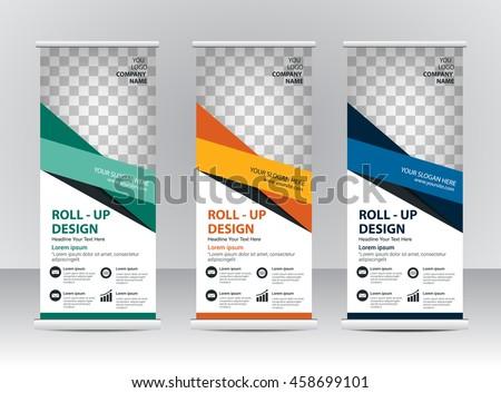 Roll Banner Template Design Stock-Vektorgrafik 458699101 – Shutterstock
