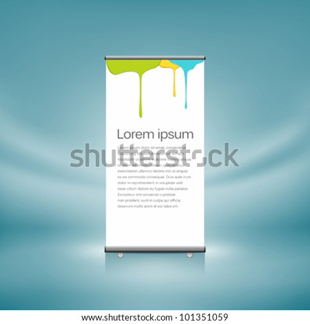 Roll up front colorful dripping design. vector illustration - stock vector