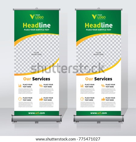 Roll Sale Banner Design Template Abstract Stock Vector 775471027 ...
