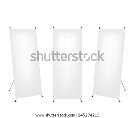 Roll up x-stand banner - stock vector