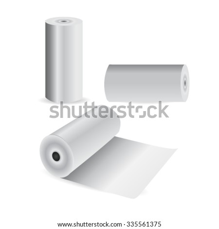 Rolled Up Paper. - stock vector