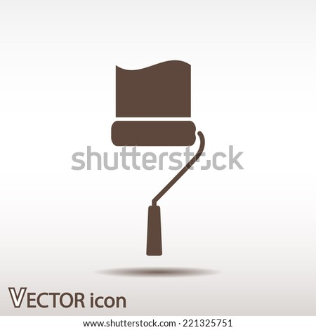 roller icon, vector illustration. Flat design style - stock vector