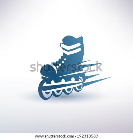 roller skates symbol - stock vector