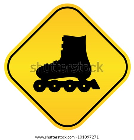 Roller skates vector sign - stock vector