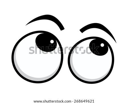 Rolling Eyes Cartoon Eyes - stock vector