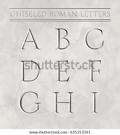 Roman Letters Chiseled Marble Stone Vector Stock Photo (Photo ...