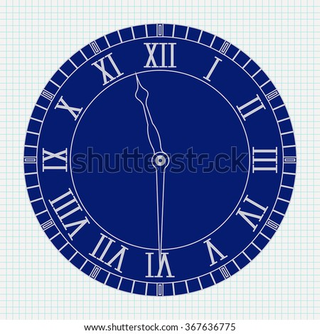 Roman Numeral Clock Stock Images Royalty Free Images