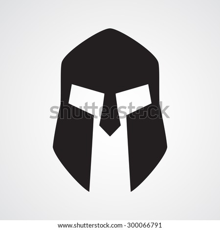 Roman or Greek Helmet , Spartan Helmet, Head protection, warrior,soldier, logo, symbol, icon, graphic, vector - stock vector