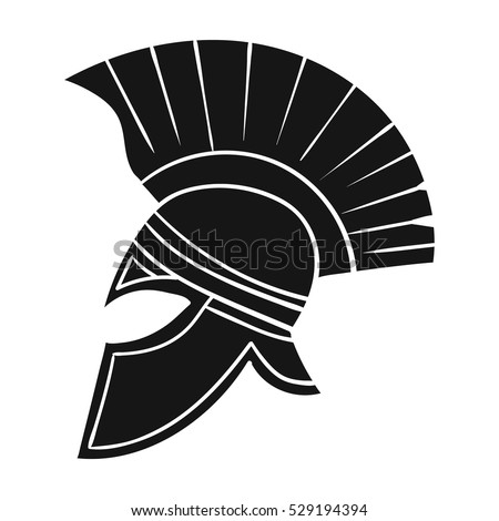 Roman Soldiers Helmet Icon Black Style Stock Vector Hd Royalty Free