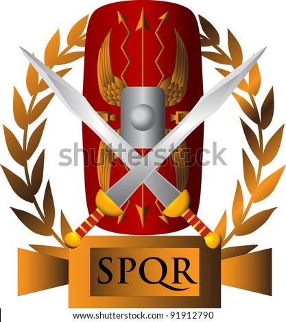 Roman symbol - stock vector