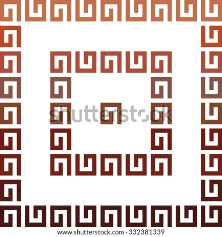 Romanian traditional symbol for progress. The two opposites that attract. A sign that indicates the progress in life - stock vector
