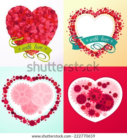 romantic and lovely ornament for various purpose and event such as valentine and wedding - stock vector