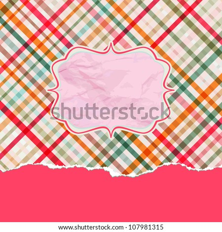 Romantic card with copyspace. EPS 8 vector file included - stock vector