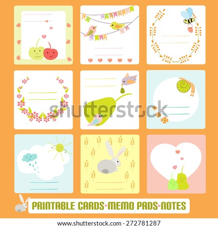 romantic cards notes labels tags vector stock vector royalty free