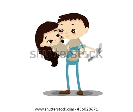 Romantic Couple Illustration - Anything For You - stock vector