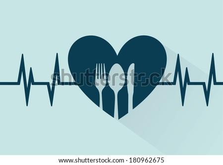 romantic dinner over blue background. vector illustration - stock vector