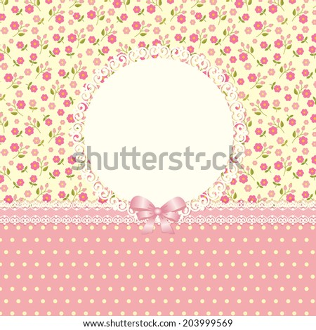 Romantic floral background for invitation, wedding, birthday - stock vector