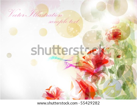 Romantic Flower Background - stock vector
