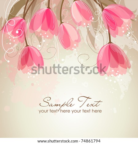 Romantic Flower Background - stock vector