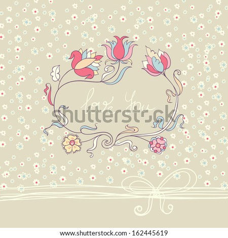 Romantic flower card