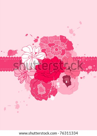 Romantic Flower Card with place for your text