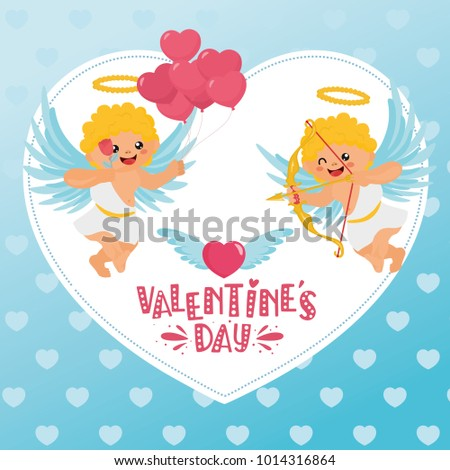 Romantic Greeting Card Handlettering Message Template Stock Vector ...