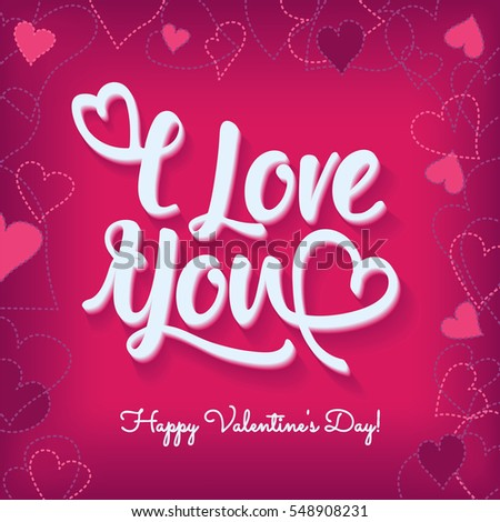 Feliz Dia De San Valentin Happy Vector 171791237 Shutterstock – Valentines Text Card