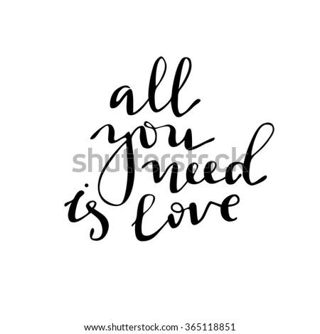 Romantic inspirational for valentines day cards greetings and wall art posters vector black calligraphy