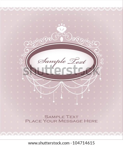 Romantic Invitation Card - stock vector