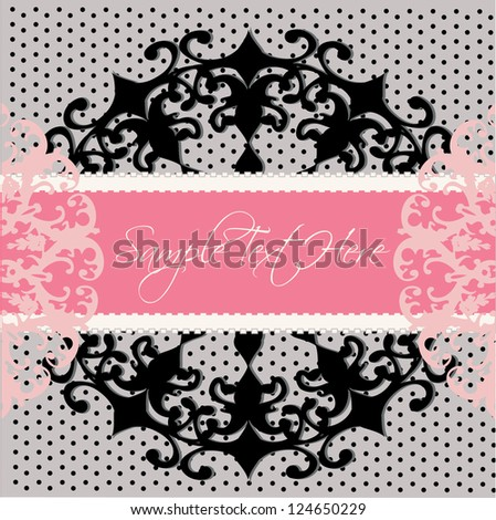 romantic invitation card - stock vector