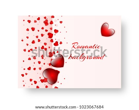 Romantic invitation template st valentines day stock vector hd romantic invitation template for st valentines day or birthday party stopboris Image collections