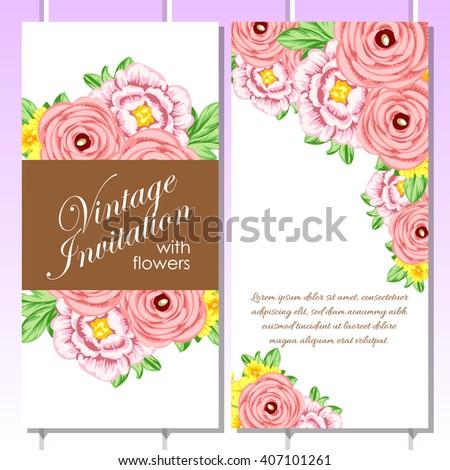 Romantic invitation wedding marriage bridal birthday stock vector romantic invitation wedding marriage bridal birthday stopboris Images