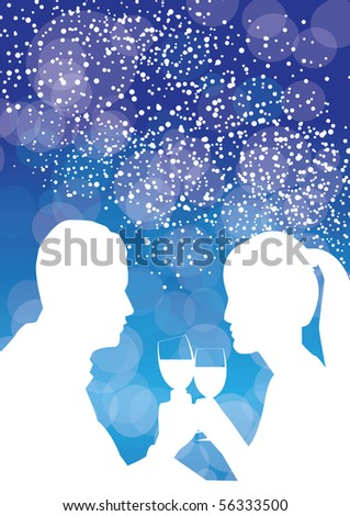 romantic meal vector