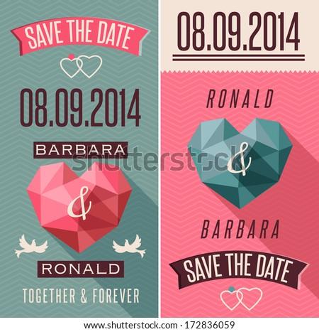 Romantic retro style invitation - stock vector