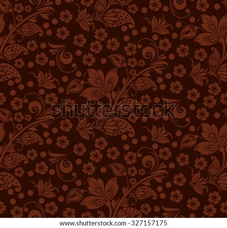 Romantic seamless floral pattern with butterflies. Seamless pattern can be used for wallpaper, pattern fills, web page backgrounds, surface textures. vector background. Eps 8